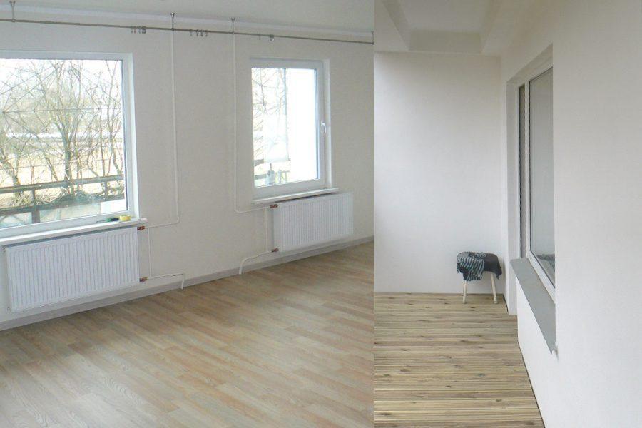 Remonta darbi dzīvoklī Čiekurkalnā, lamināts, dēļu grīda, krāsošana