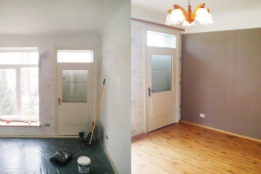 Gridas seguma maina, tapesu limesana, krāsošana darbi. Remonta darbi privātā dzīvoklī. Tipveida projekta remonts