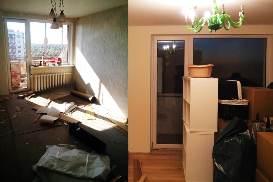Guļamistabas remonts, sienu krāsošana, iekšējā apdare. Eiroremonts. Darbu vadītājs dzīvoklī.