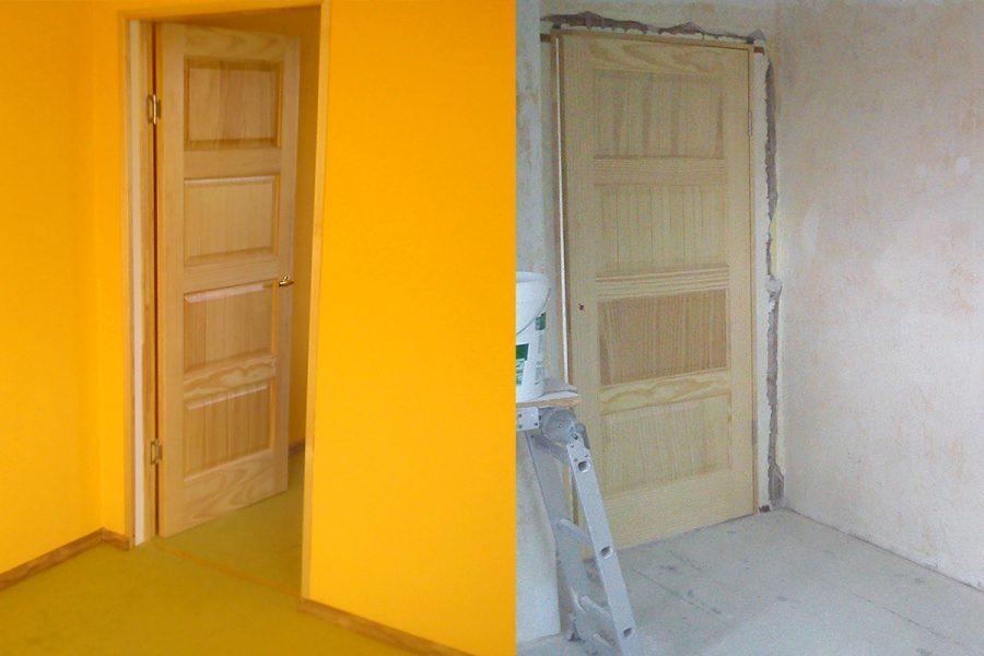Dzīvokļa remonts un durvju maiņa.