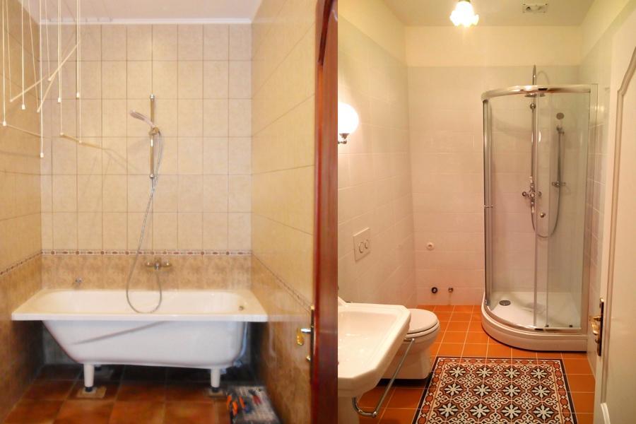 Dzīvokļu remonts, vannas istabas remonts jauna duškabīne