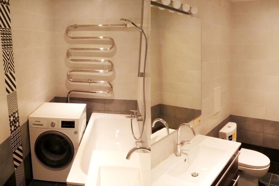 Remonts, Celtneicības darbi, dvieļu žāvētāja un vannasistabas remonts